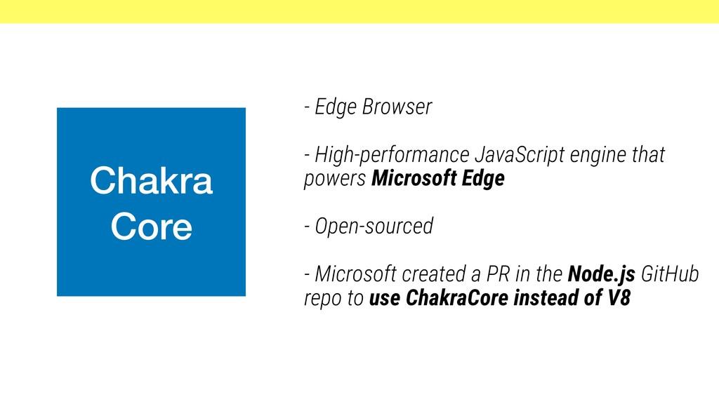 Chakra Core - Edge Browser - High-performance J...
