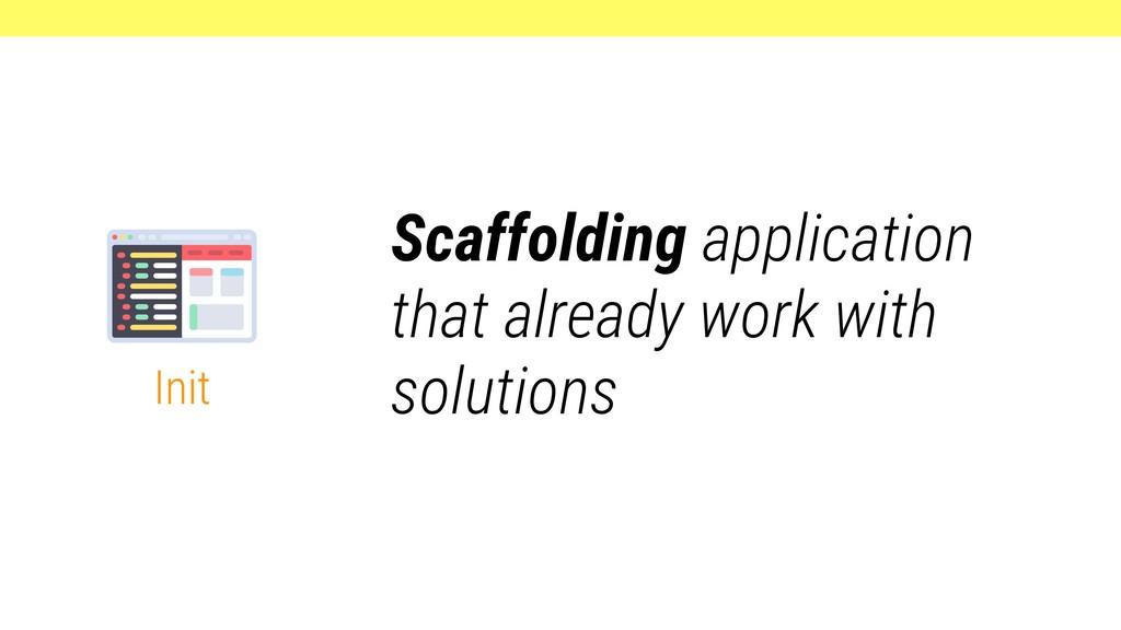 Init Scaffolding application that already work ...