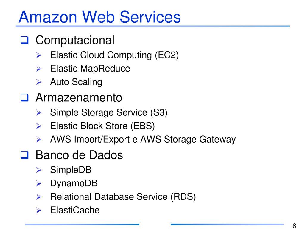 Amazon Web Services  Computacional  Elastic C...