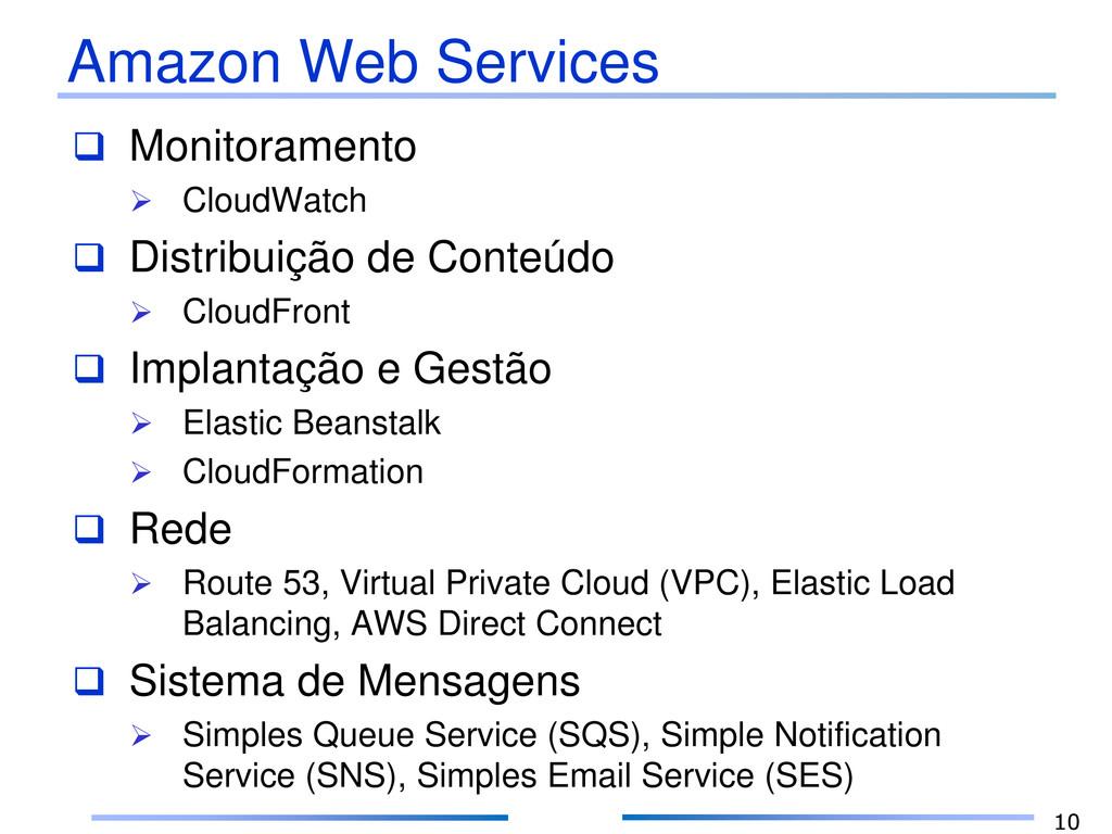 Amazon Web Services  Monitoramento  CloudWatc...