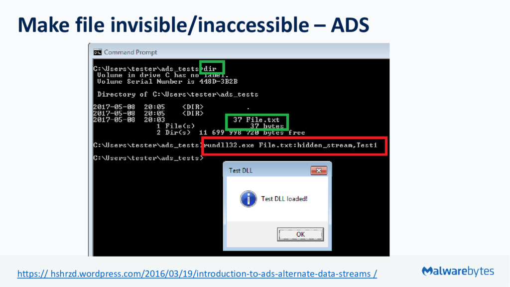 Make file invisible/inaccessible – ADS https://...