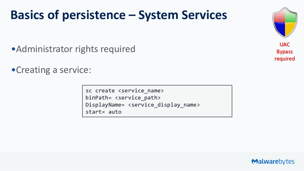 Basics of persistence – System Services •Admini...