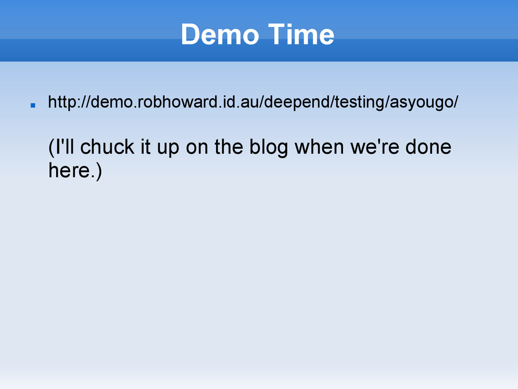 Demo Time ■ http://demo.robhoward.id.au/deepend...