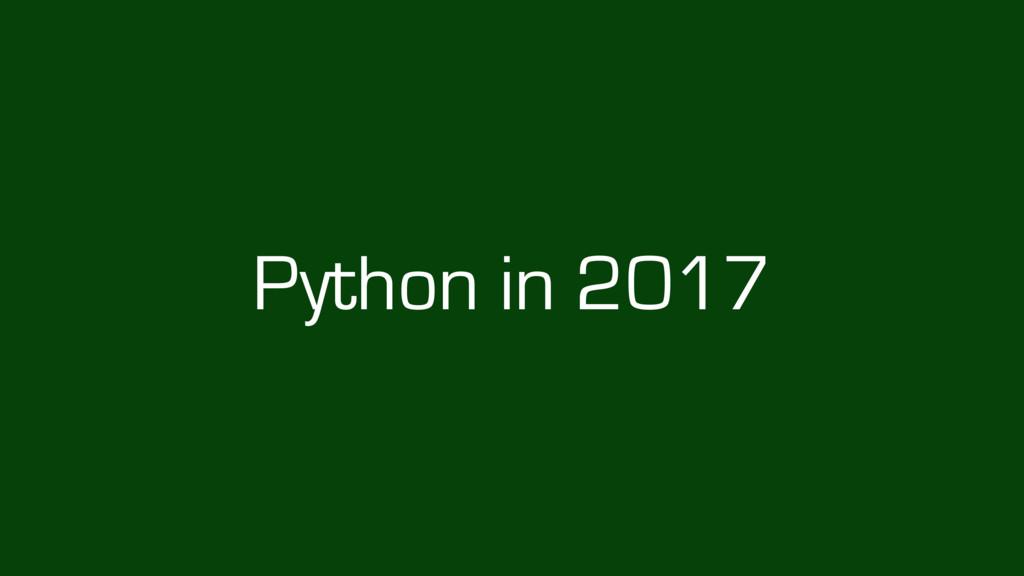 Python in 2017