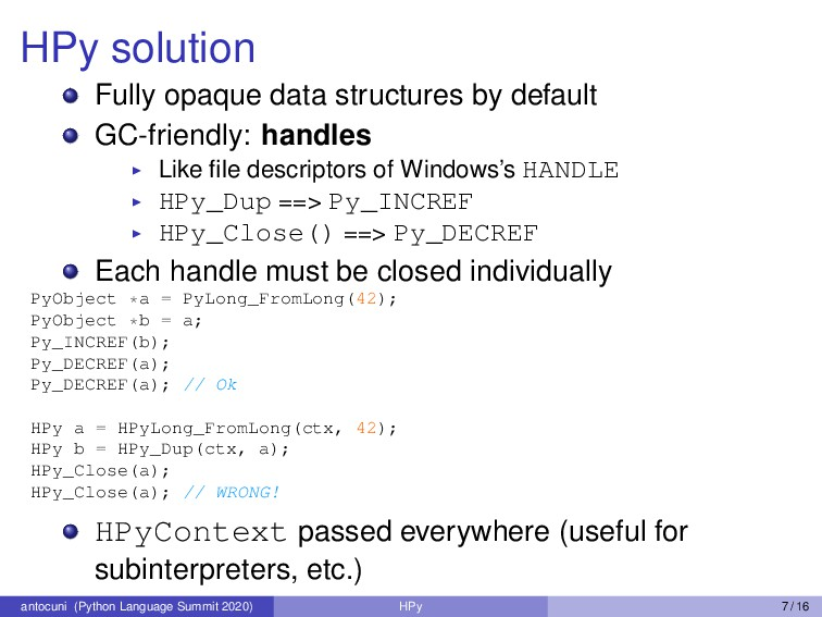 HPy solution Fully opaque data structures by de...