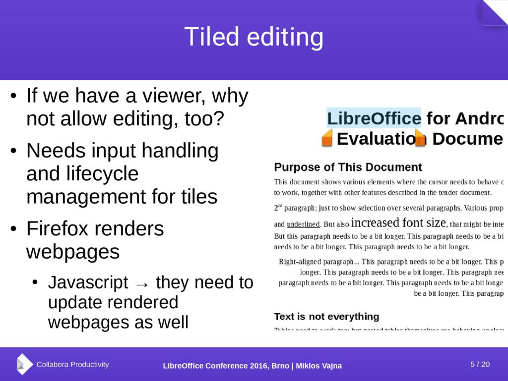 5 / 20 LibreOffice Conference 2016, Brno | Mikl...