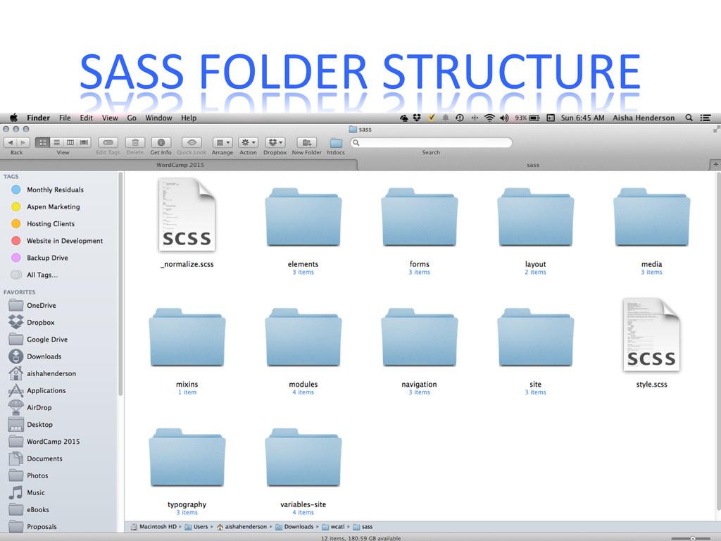 SASS FOLDER STRUCTURE