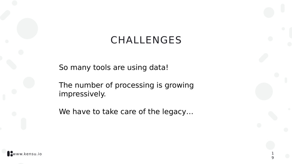 www.kensu.io CHALLENGES So many tools are using...