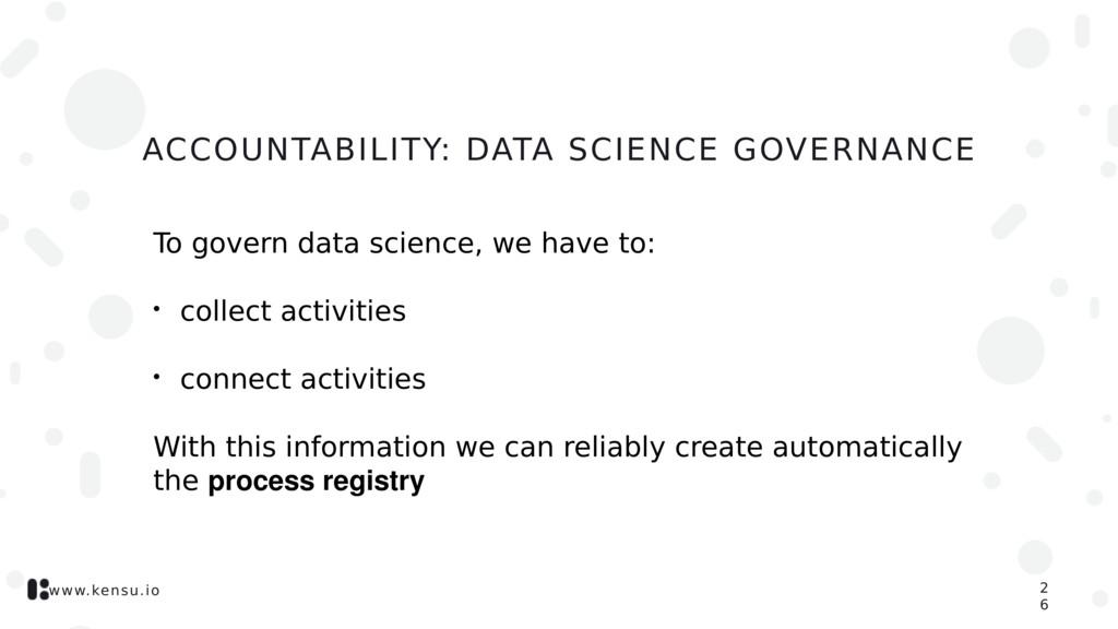 www.kensu.io ACCOUNTABILITY: DATA SCIENCE GOVER...