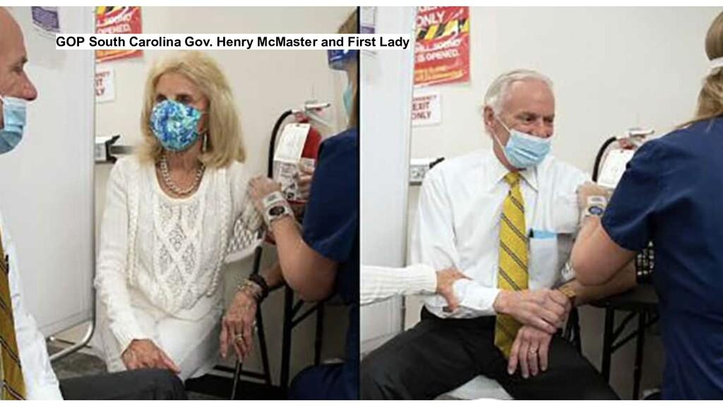 GOP South Carolina Gov. Henry McMaster and Firs...