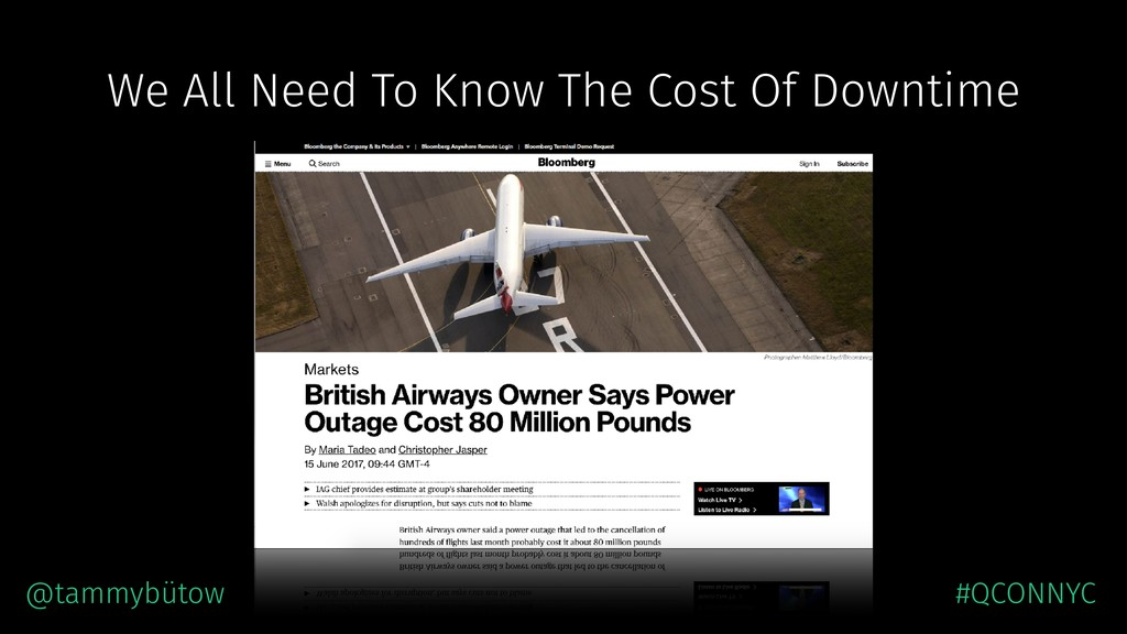 We All Need To Know The Cost Of Downtime @tammy...