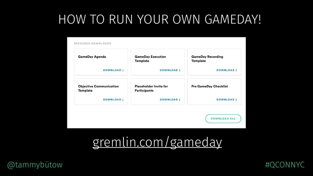 HOW TO RUN YOUR OWN GAMEDAY! @tammybütow #QCONN...