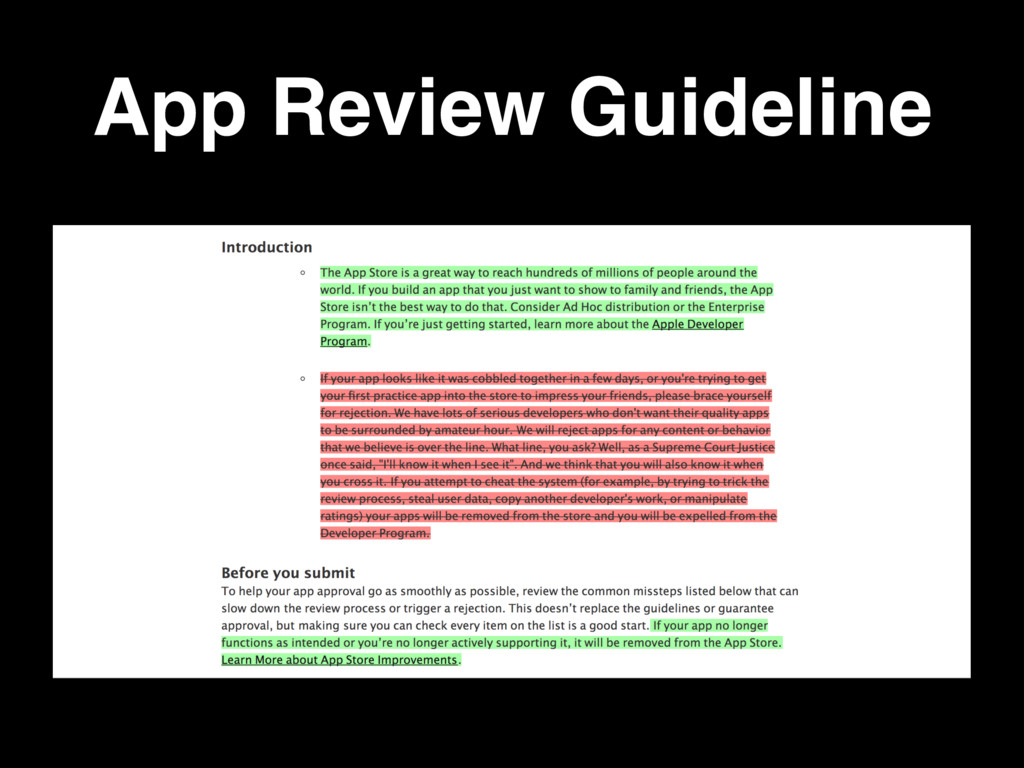 App Review Guideline