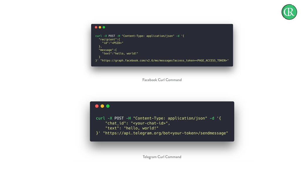 Facebook Curl Command Telegram Curl Command