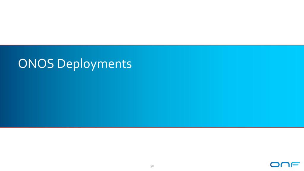 ONOS Deployments 50