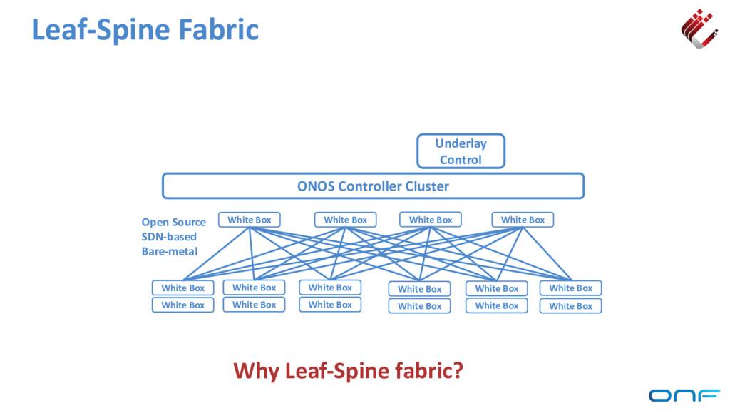 Leaf-Spine Fabric ONOS Controller Cluster Under...