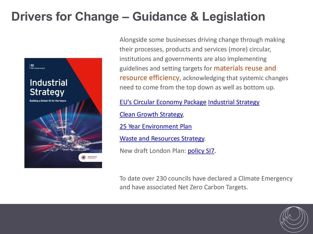 Alongside some businesses driving change throug...