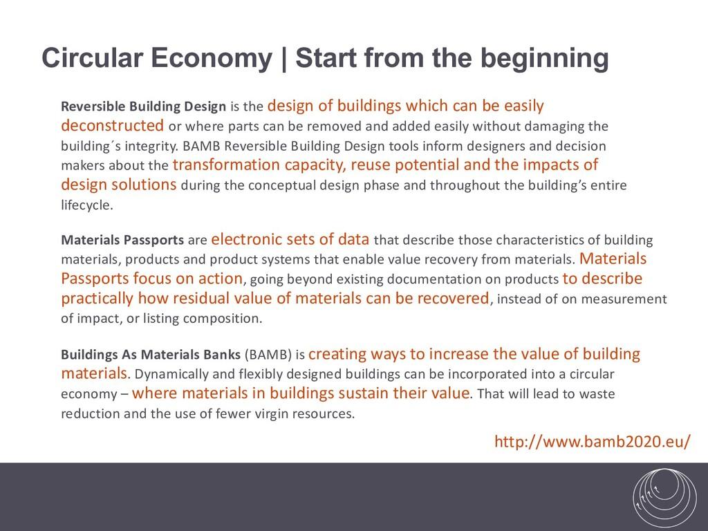 Circular Economy | Start from the beginning Bui...