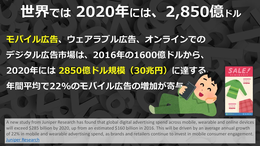 12 世界では 2020年には、2,850億ドル A new study from Junip...