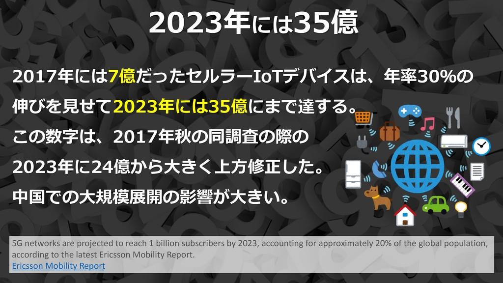 17 2023年には35億 5G networks are projected to reac...