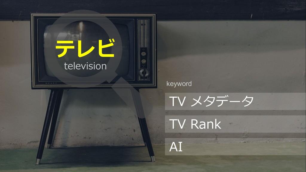 48 テレビ TV メタデータ TV Rank AI keyword television