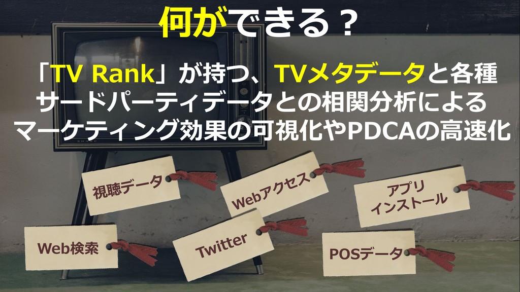 51 「TV Rank」が持つ、TVメタデータと各種 サードパーティデータとの相関分析による ...