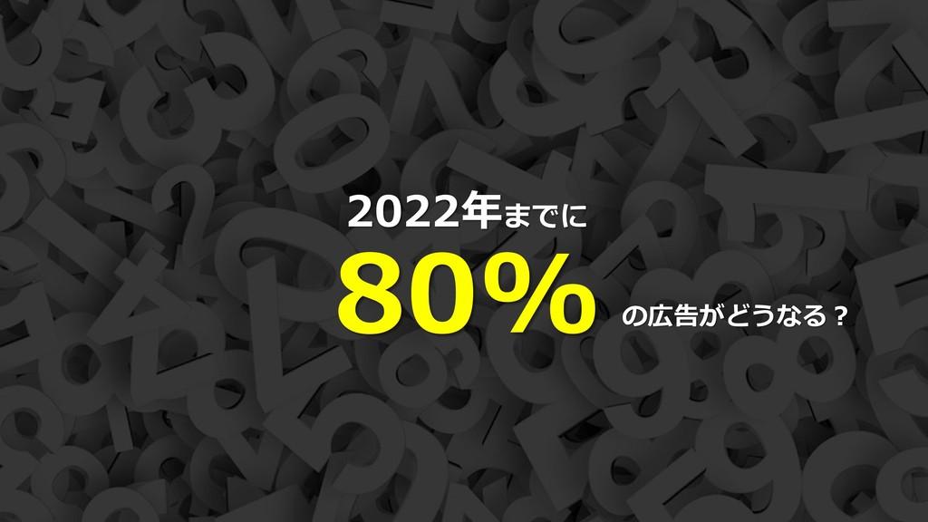 8 2022年までに 80% の広告がどうなる?
