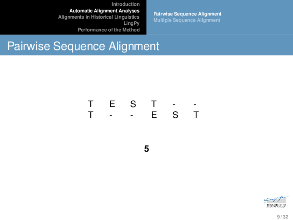Introduction Automatic Alignment Analyses Align...