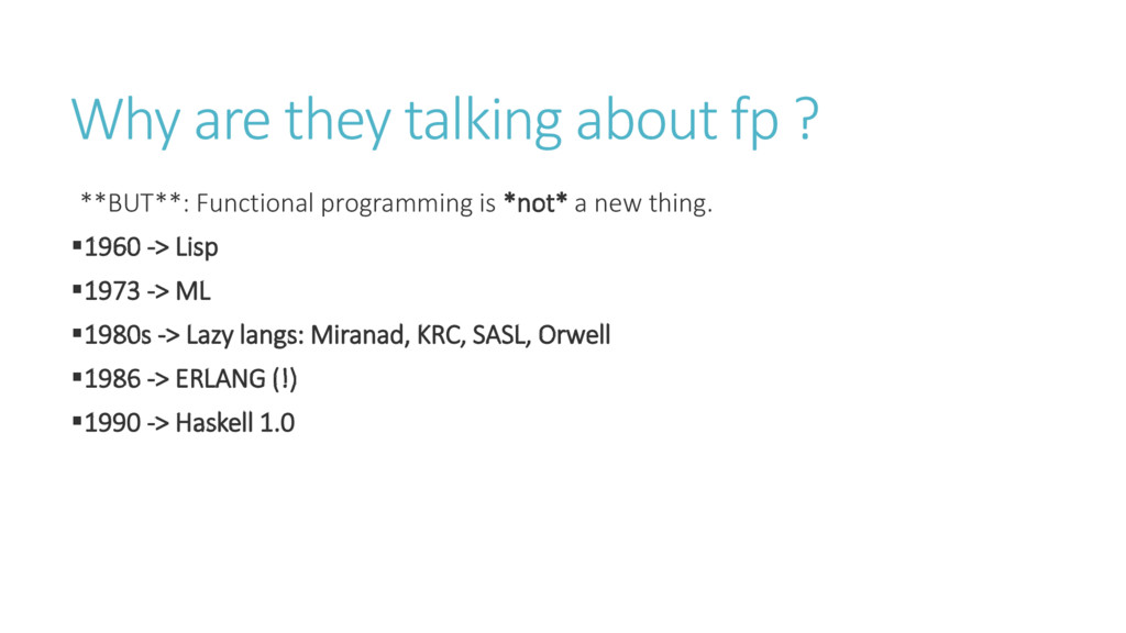 Why are they talking about fp ? **BUT**: Functi...