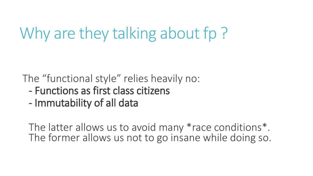 Why are they talking about fp ? The fu tio al s...