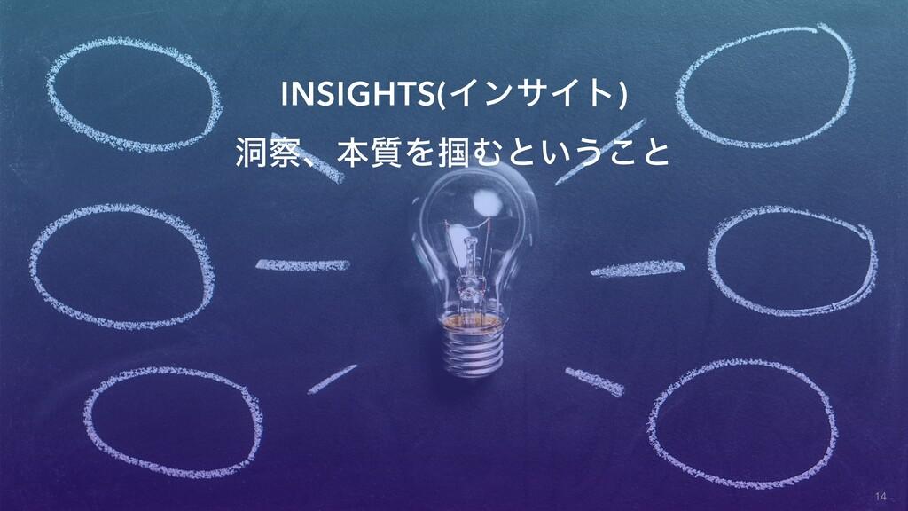 INSIGHTS(ΠϯαΠτ) ಎɺຊ࣭Λ௫Ήͱ͍͏͜ͱ 14