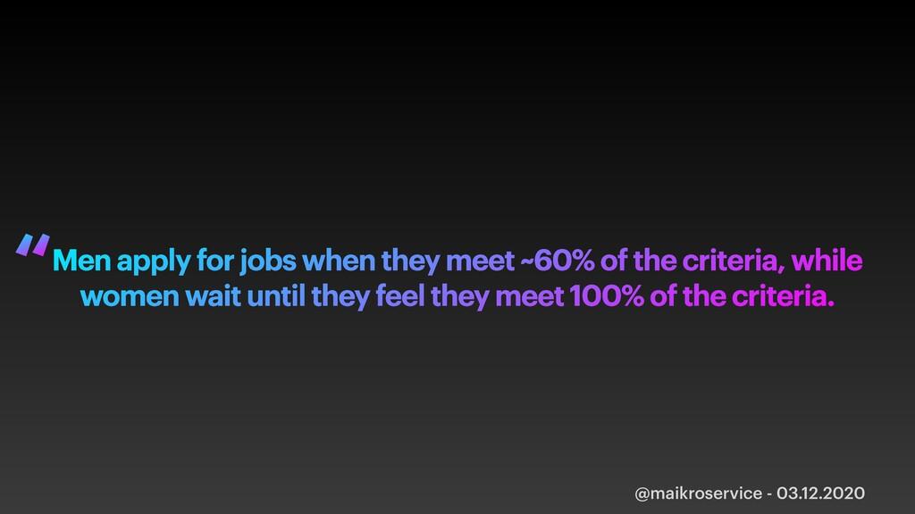 @maikroservice - 03.12.2020 Men apply for jobs ...