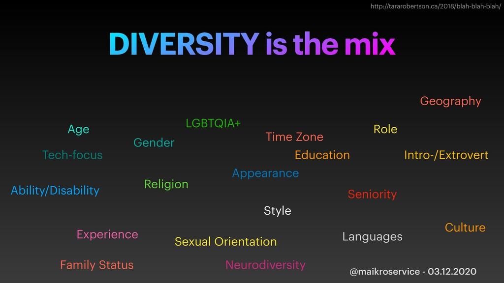 @maikroservice - 03.12.2020 DIVERSITY is the mi...