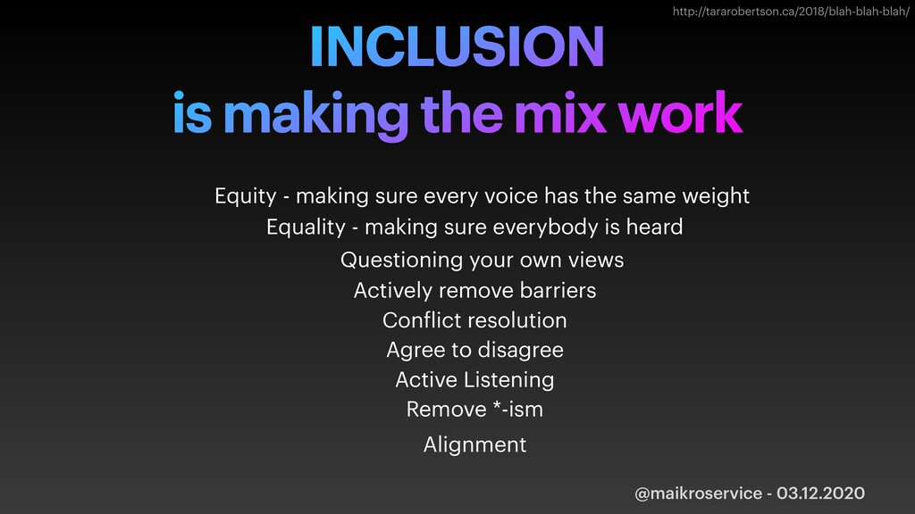 @maikroservice - 03.12.2020 INCLUSION is making...
