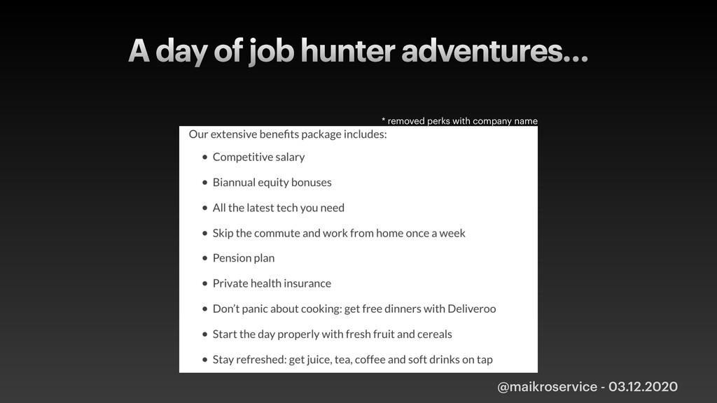 A day of job hunter adventures… @maikroservice ...