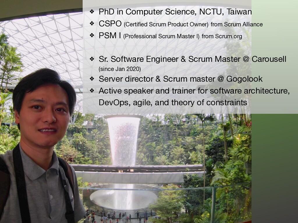 PhD in Computer Science, NCTU, Taiwan  CSPO (Ce...