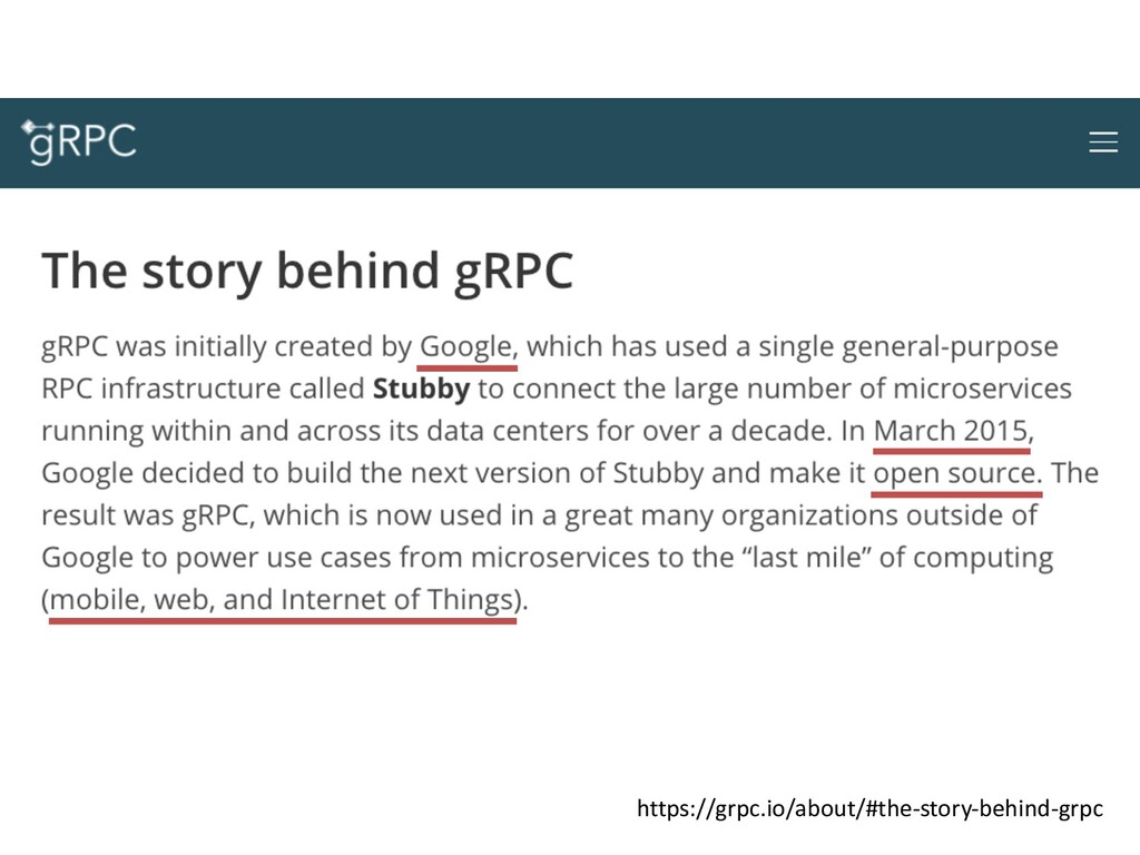 https://grpc.io/about/#the-story-behind-grpc