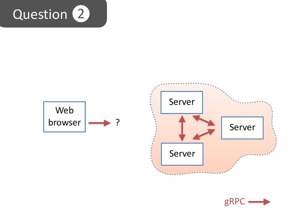 Server gRPC Server Server Web browser ? Questio...