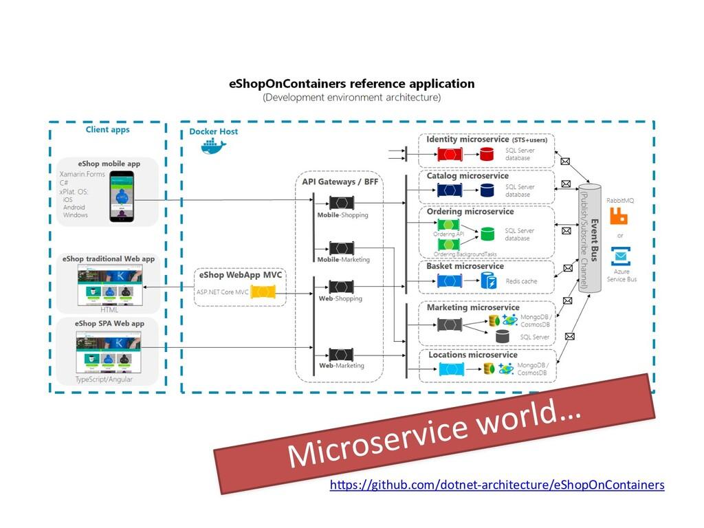 hWps://github.com/dotnet-architecture/eShopOnCo...