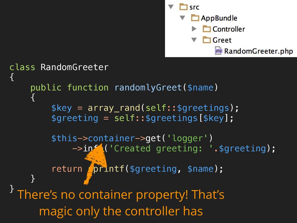 class RandomGreeter { public function randoml...