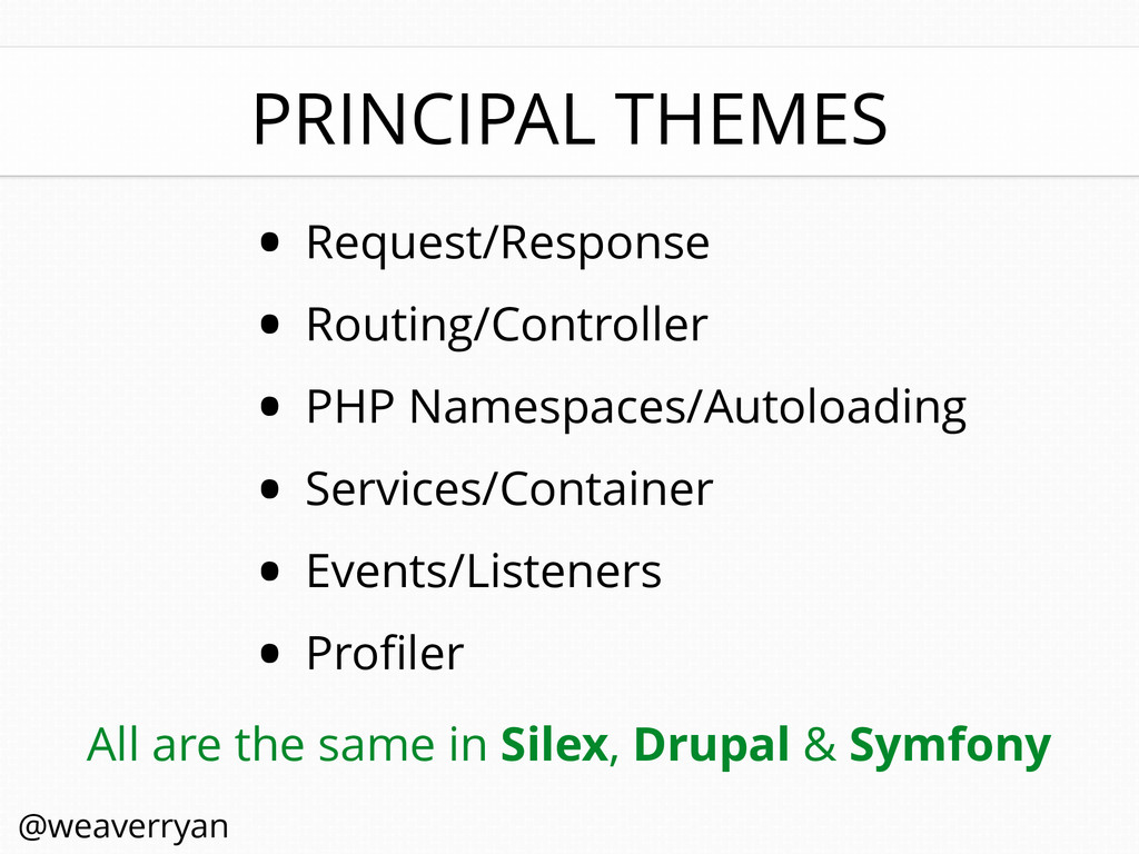 PRINCIPAL THEMES • Request/Response • Routing/C...
