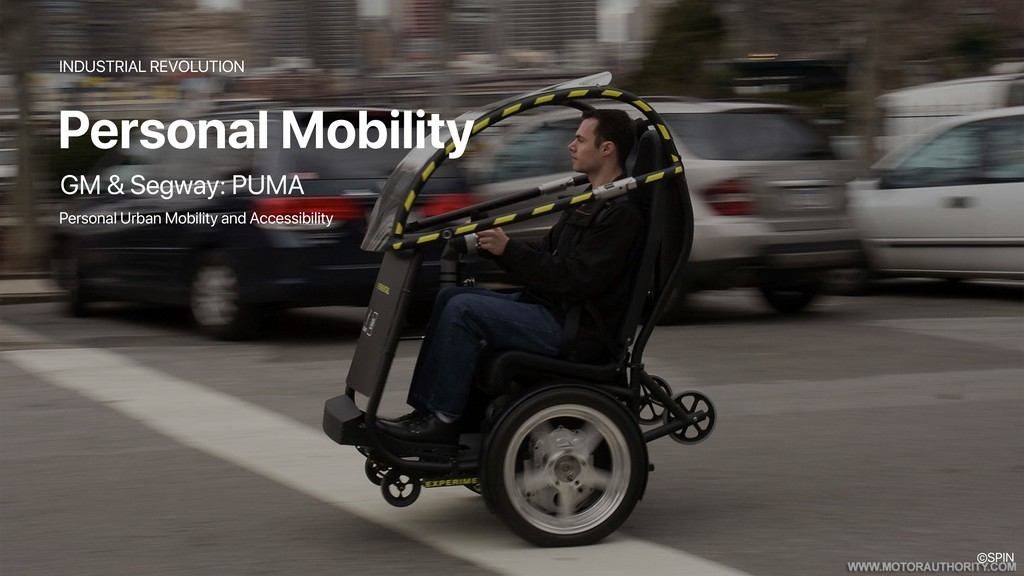 Personal Mobility INDUSTRIAL REVOLUTION GM & Se...