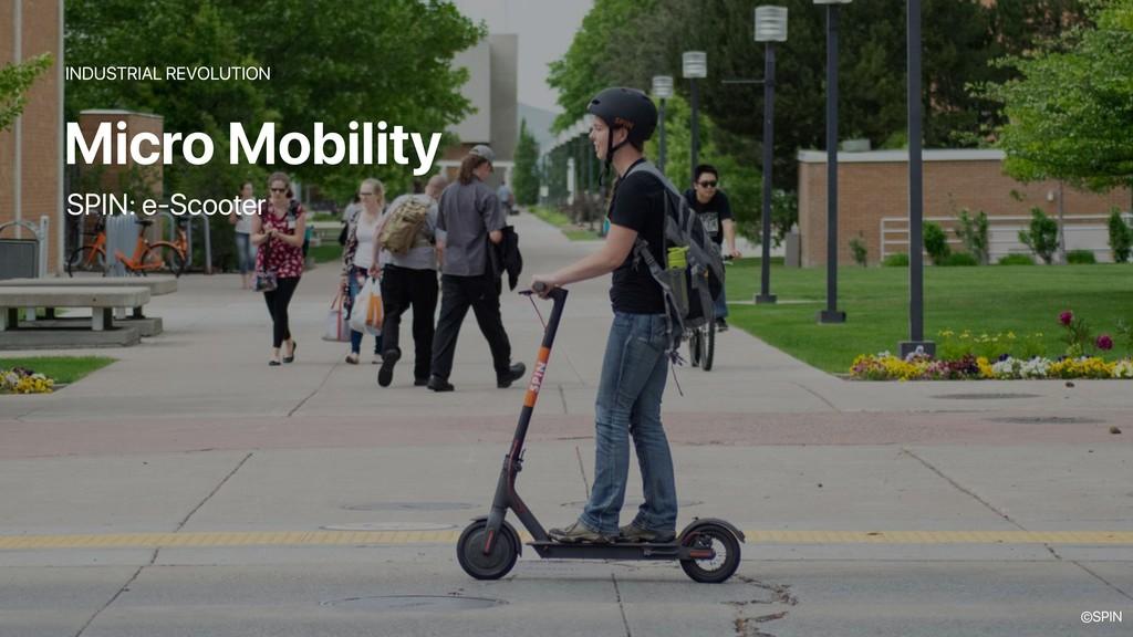 Micro Mobility INDUSTRIAL REVOLUTION SPIN: e-Sc...