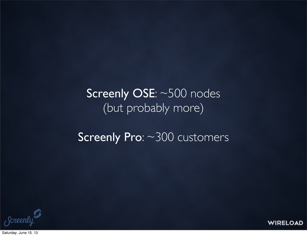 Screenly OSE: ~500 nodes (but probably more) Sc...