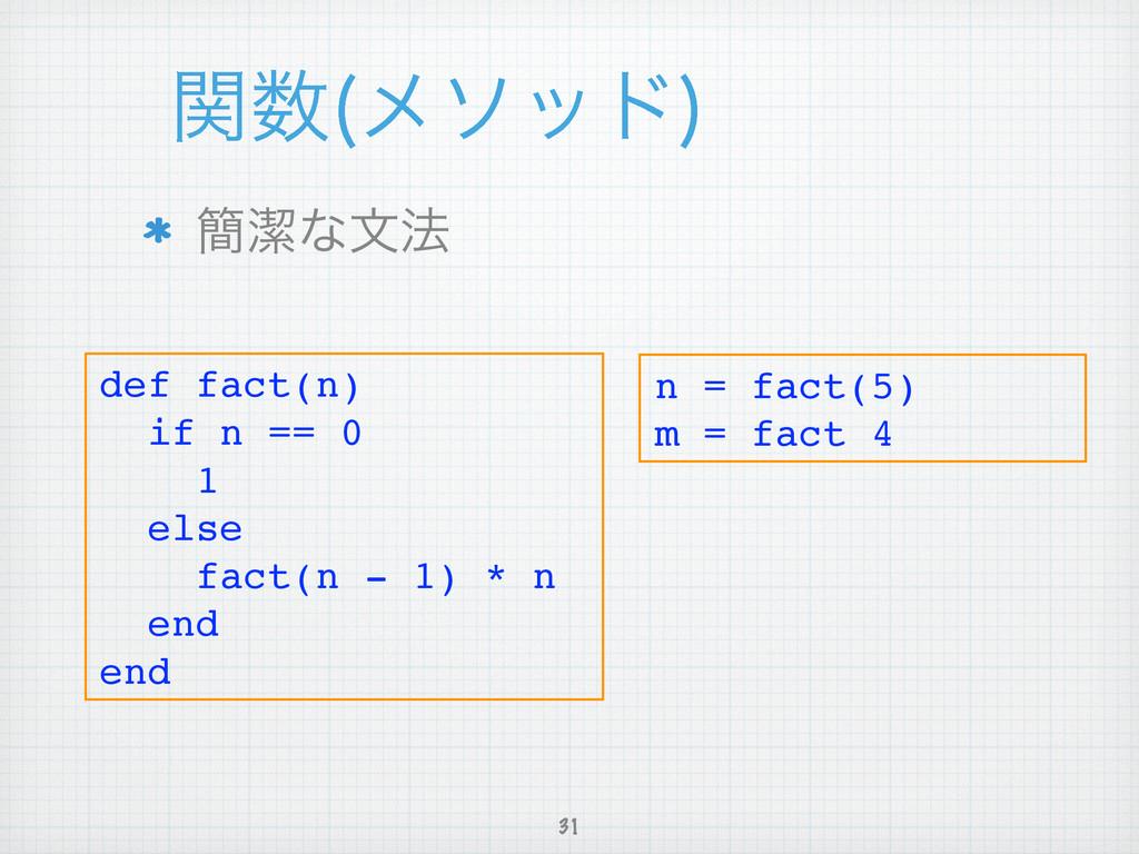 ؔ ϝιου  ؆ܿͳจ๏ 31 def fact(n)! if n == 0! 1!...