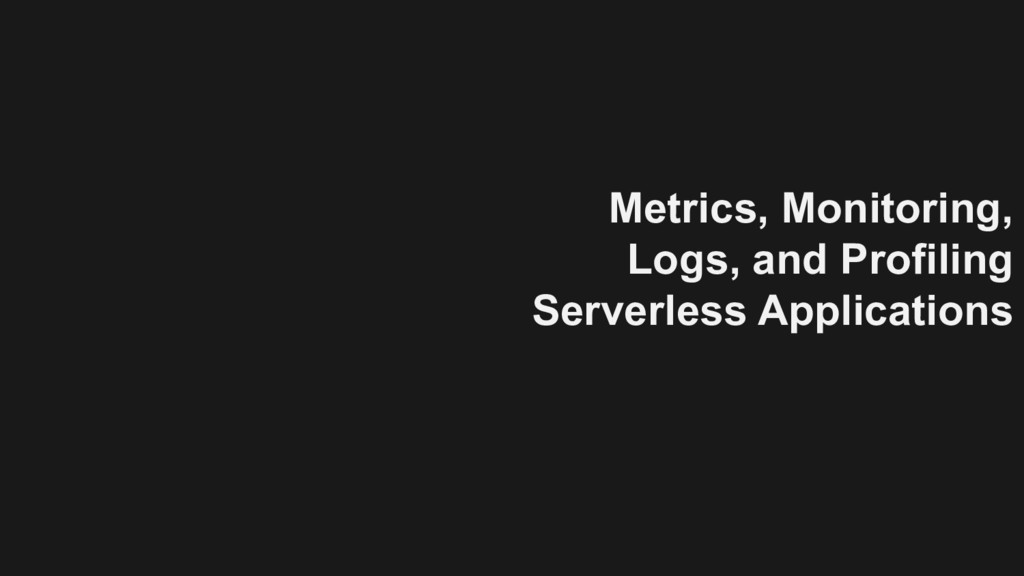 Metrics, Monitoring, Logs, and Profiling Server...