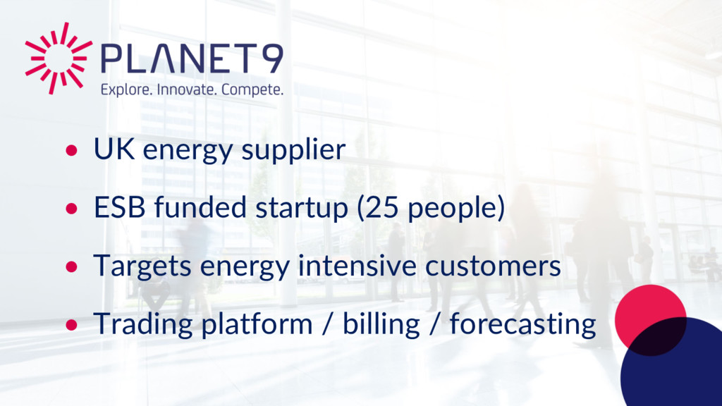 • UK energy supplier • ESB funded startup (25 p...