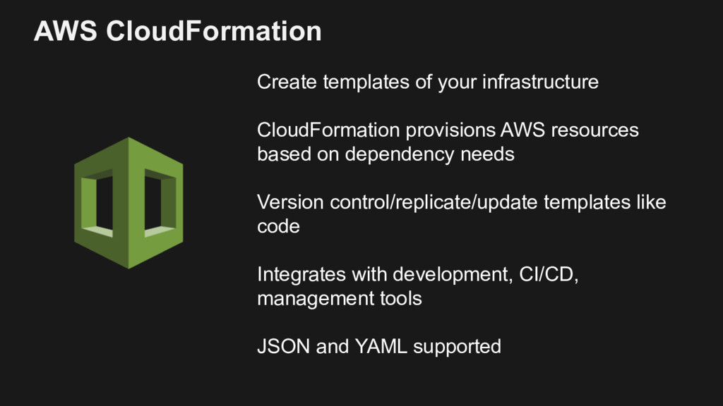Create templates of your infrastructure CloudFo...