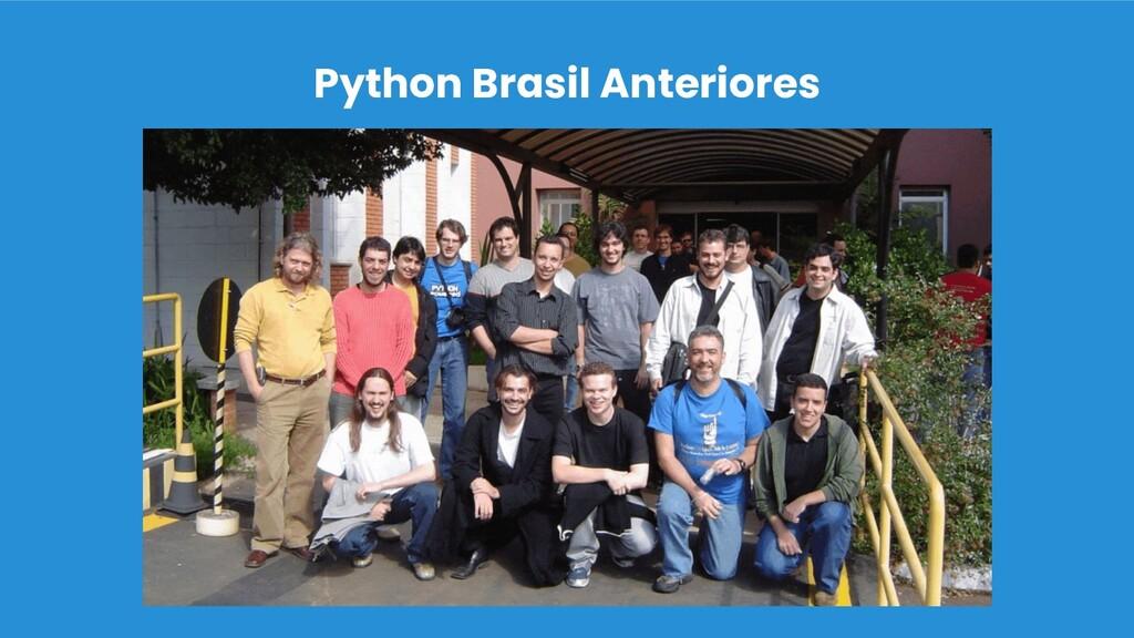 Python Brasil Anteriores