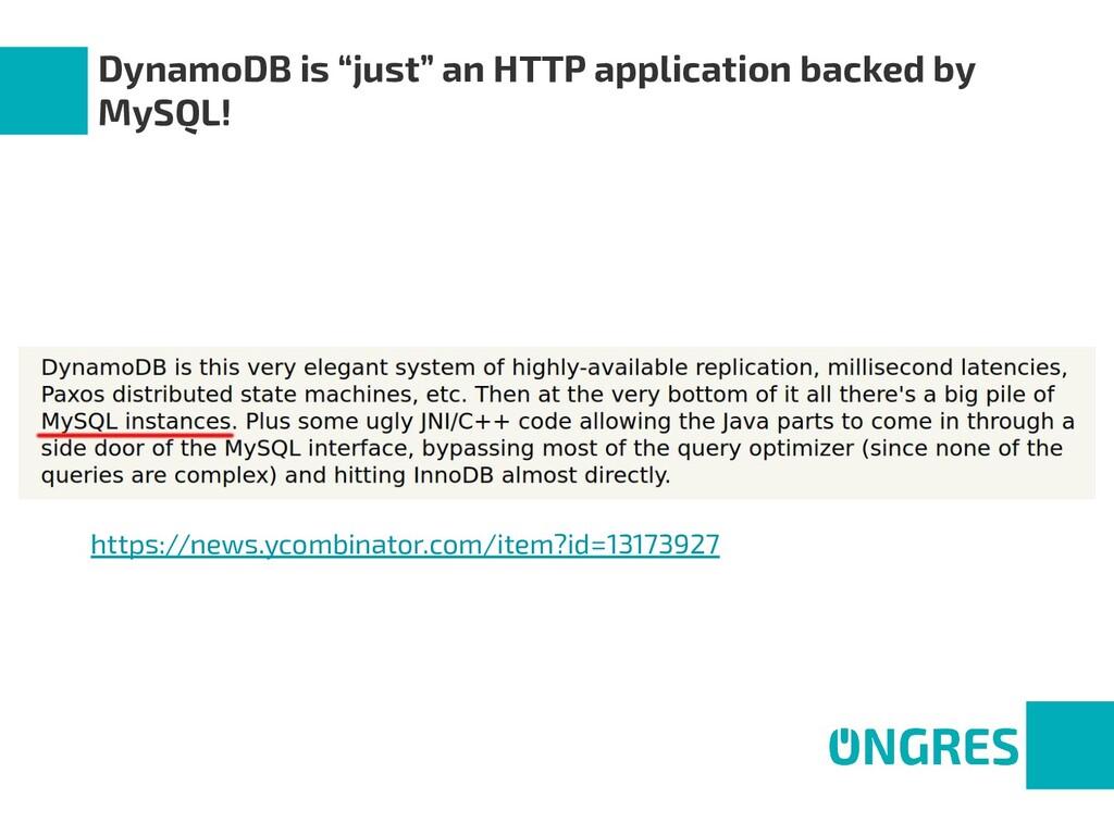 "DynamoDB is ""just"" an HTTP application backed b..."